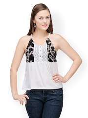 Colors Couture Women Black & White Printed Top