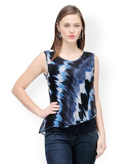 Colors Couture Women Navy Printed Top