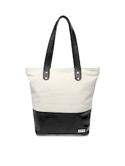 Mast & Harbour Women Off-White Tote Bag