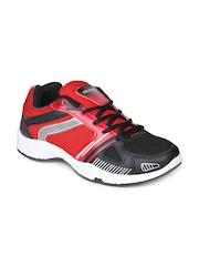 Columbus Men Black & Red Sports Shoes