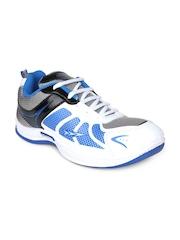 Columbus Men White & Blue Sports Shoes