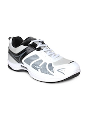 Columbus Men White & Grey Sports Shoes