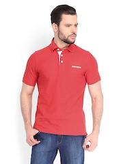 Converse Men Red Polo T-shirt