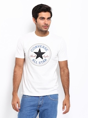 Converse Men White Printed T-shirt