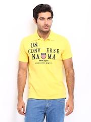 Converse Men Yellow Polo T-shirt