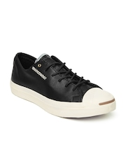 Converse Unisex Black Leather Casual Shoes