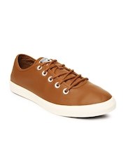 Converse Unisex Brown Leather Casual Shoes