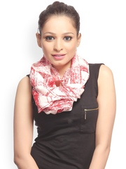 CoolThreads Women Red & White Printed Scarf