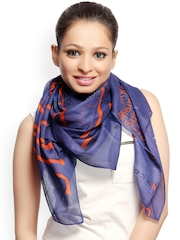 CoolThreads Women Blue & Orange Printed Scarf