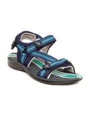 Coolers Men Blue & Black Sports Sandals