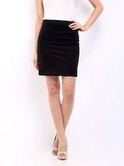 Cottinfab Black Pencil Skirt