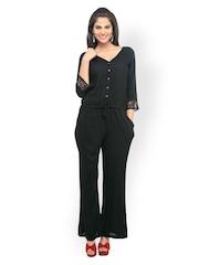 Cottinfab Women Black Jumpsuit