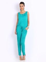 Cottinfab Women Green Jumpsuit