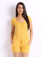 Cottinfab Women Yellow Playsuit