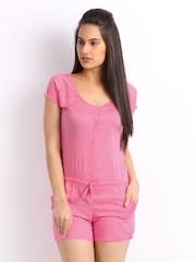 Cottinfab Women Pink Playsuit