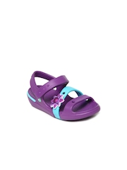 Crocs Girls Purple Keeley Sandal