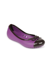 Crocs Women Purple & Brown Ballerinas