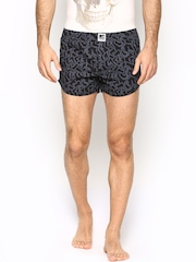 MTV Roadies by Crusoe Men Black & Grey Printed Boxers R05