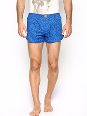 MTV Roadies by Crusoe Men Blue Printed Boxers R05