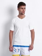 Crusoe Men White Innerwear T-shirt 3002