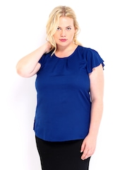 Curvy by D Muse Women Blue Top