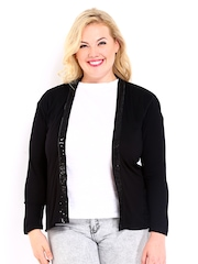 Curvy by DressBerry Black Sequinned Shrug