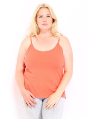 Curvy by Roadster Coral Orange Camisole 8