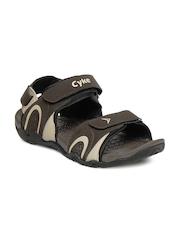 Cyke Men Brown Flash Sandals