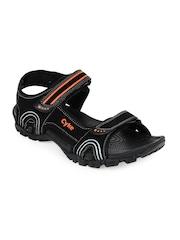 Cyke Men Combat Black Sports Sandals