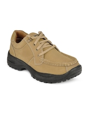 Cyke Men Foster Brown Leather Casual Shoes