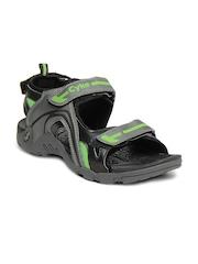 Cyke Men Grey Scratch Sandals