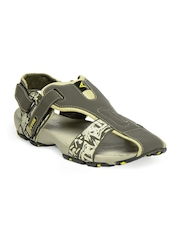 Cyke Men Olive Arrow Sandals