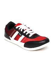 Cyke Men Red & Black Casual Shoes