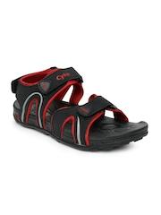 Cyke Men Black Stream Sports Sandals
