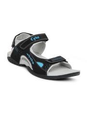 Cyke Men Black Reva Sports Sandals