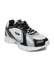 Cyke Men White & Grey Clark Sports Shoes