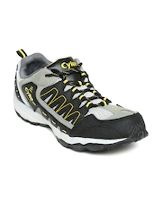 Cyke Men Grey & Black Foster Sports Shoes