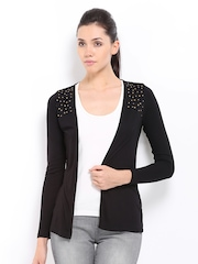 D Muse Black Studded Shrug