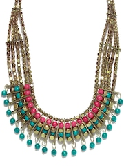D Muse Gold-Toned & Blue Necklace