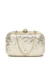 D Muse Gold-Toned Box Clutch