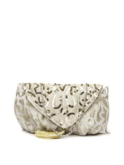 D Muse Off-White & Muted Gold-Toned Sling Bag