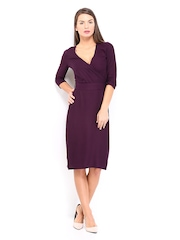 D Muse by DressBerry Purple Wrap Berry Dress