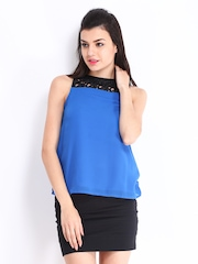 D Muse Women Blue & Black Top