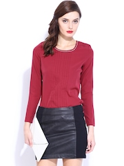 D Muse Women Dark Pink Top