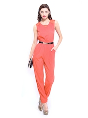 D Muse Women Pink 70s Berry Jumpsuit