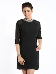 D Muse Black Shift Dress