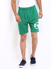 DC Comics Men Green Shorts