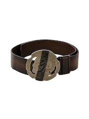 Diesel Women Brown Dida Service Leather Belt