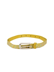 Diesel Women Mustard Allodies Belt