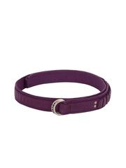 Diesel Women Purple Dnas Belt
